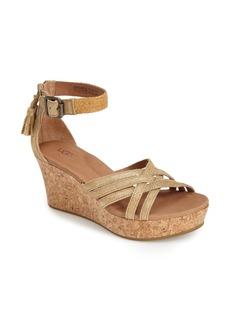 UGG® Australia 'Lillie' Glitter Suede Wedge Sandal (Women)