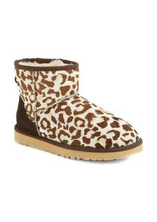 UGG® Australia 'Mini Classic' Leopard Print Calf Hair Boot (Women)