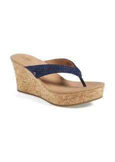 UGG® Australia 'Natassia Mar' Platform Wedge Thong Sandal (Women)