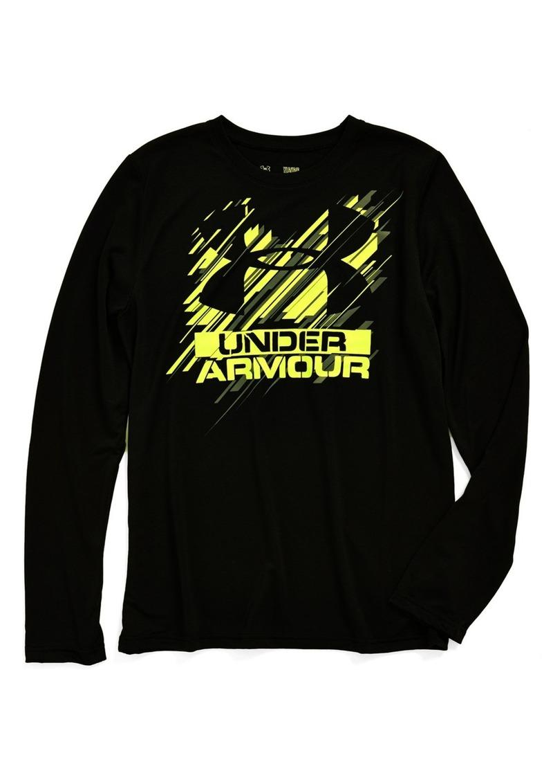 Under armour under armour 39 i 39 m next 39 long sleeve t shirt for Yellow under armour long sleeve shirt