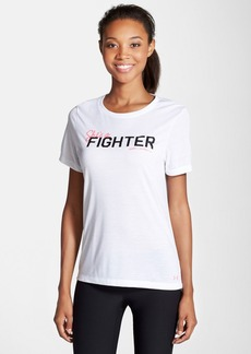 Under Armour 'Power in Pink - She's a Fighter' Crewneck Tee