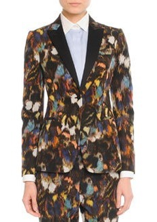 Abstract Painted Feather Jacket   Abstract Painted Feather Jacket
