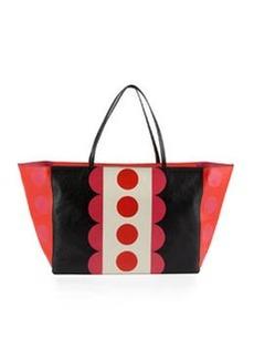 Carmen Medium Polka-Dot Tote Bag   Carmen Medium Polka-Dot Tote Bag