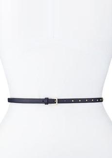 Dotcom Vitello Studded Belt, Marine Blue   Dotcom Vitello Studded Belt, Marine Blue