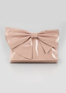 Lacca Bow Clutch Bag, Soft Noisette   Lacca Bow Clutch Bag, Soft Noisette