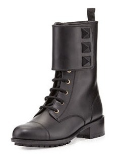 Rockstud Big-Stud Combat Boot, Black   Rockstud Big-Stud Combat Boot, Black