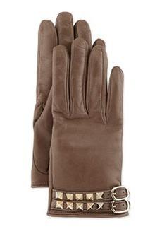 Rockstud Napa Driving Gloves, Mauve   Rockstud Napa Driving Gloves, Mauve