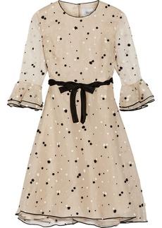 Valentino Appliquéd organza dress
