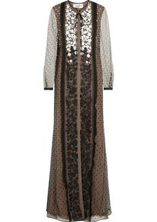 Valentino Appliquéd tulle gown
