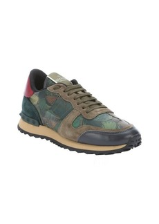 Valentino army green and dark green leather butterfly camo sneakers