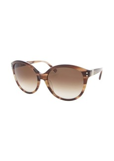 Valentino beige horn rockstud cat eye sunglasses