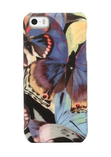 Valentino black and blue multi-color nylon butterfly iPhone 5 case