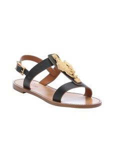 Valentino black leather 'Ethno Elements' sandals