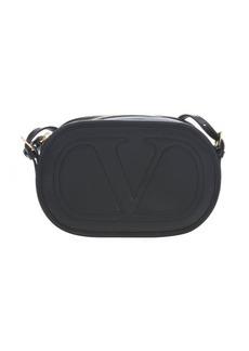Valentino black leather 'Logo Go' crossbody bag