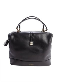 Valentino black leather medium trunk bag