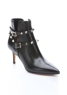 Valentino black leather 'Rockstud' ankle boots
