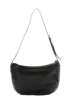 Valentino black leather 'Rockstud' shoulder bag