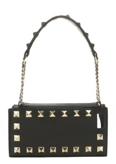 Valentino black leather 'Rockstud' wristlet iPhone 5 case