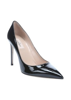 Valentino black patent leather 'Rockstud' pumps