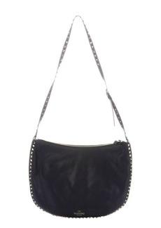 Valentino blue leather 'Rockstud' shoulder bag