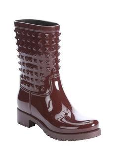 Valentino bordo rubber 'Rockstud' rain boots