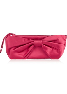 Valentino Bow-detailed silk-satin clutch
