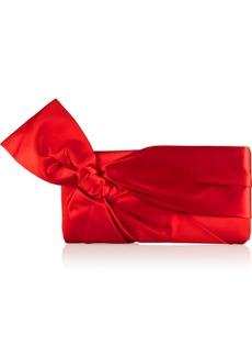 Valentino Bow-embellished silk-satin clutch