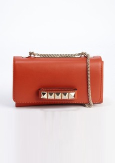 Valentino burnt orange leather 'Rockstud' shoulder bag