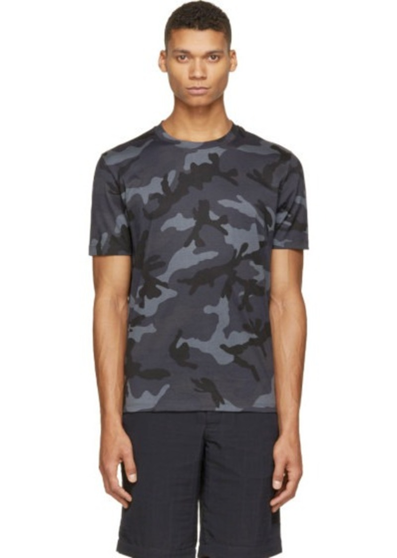 Valentino Valentino Charcoal Camo T Shirt T Shirts