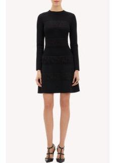 Valentino Compact-Knit Lace Dress