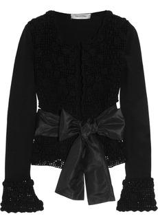 Valentino Crochet-knit cotton cardigan