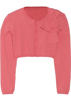 Valentino Cropped cotton-blend cardigan