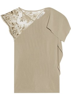 Valentino Embellished knitted top