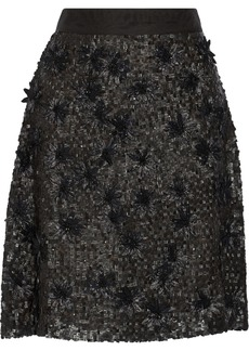 Valentino Embellished silk skirt