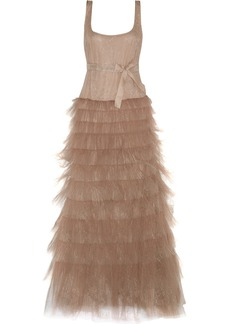 Valentino Embroidered tulle gown