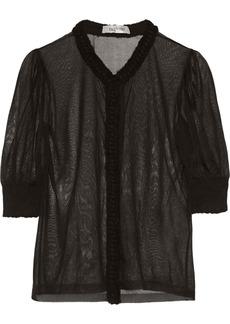 Valentino Fine-knit silk top