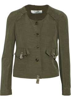 Valentino Flax and silk-blend jacket