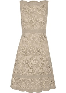 Valentino Floral-crocheted cotton dress