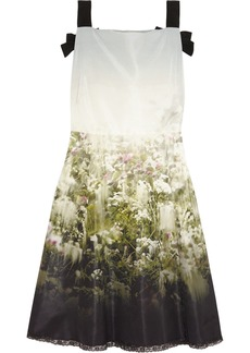 Valentino Floral-print silk-faille dress