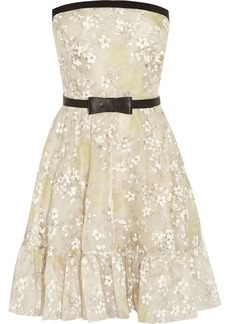 Valentino Floral-print silk-organza dress