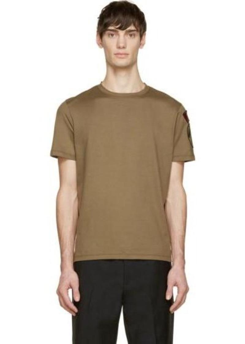 Valentino Valentino Green Camo Patch T Shirt T Shirts