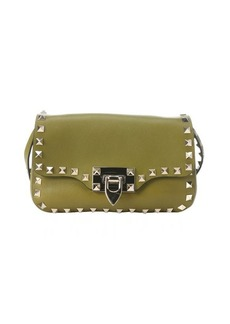 Valentino green leather 'Rockstud' mini satchel
