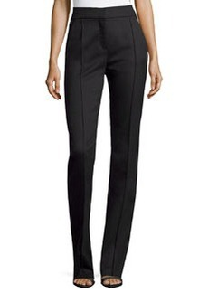 Valentino High-Waist Wool-Blend Pants, Black
