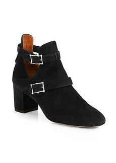 Valentino Hitch On Suede Ankle Boots