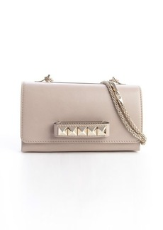 Valentino khaki leather studded 'Rockstud' shoulder bag