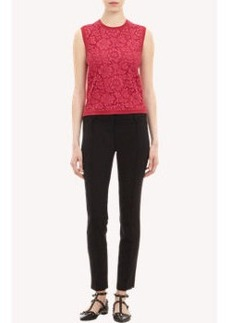 Valentino Lace-Front Shell