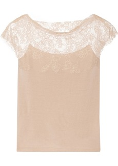 Valentino Lace-paneled wool sweater