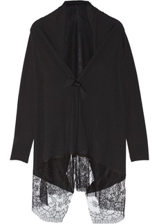 Valentino Lace-trimmed wool, silk and cashmere-blend cardigan