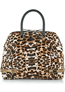 Valentino Leopard-print calf hair tote
