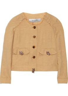 Valentino Linen and silk-blend jacket